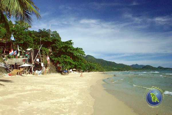 White Sand Beach on Ko Chang in Thailand